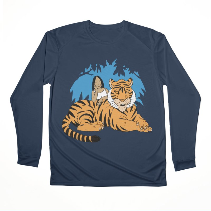 Pet Tiger Men's Performance Longsleeve T-Shirt by Freehand