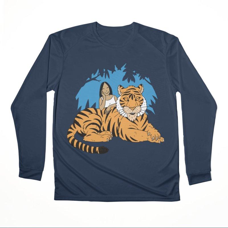 Pet Tiger Women's Performance Unisex Longsleeve T-Shirt by Freehand