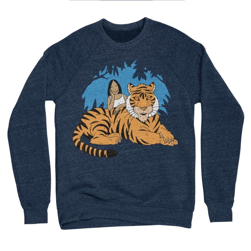 Pet Tiger Men's Sponge Fleece Sweatshirt by Freehand