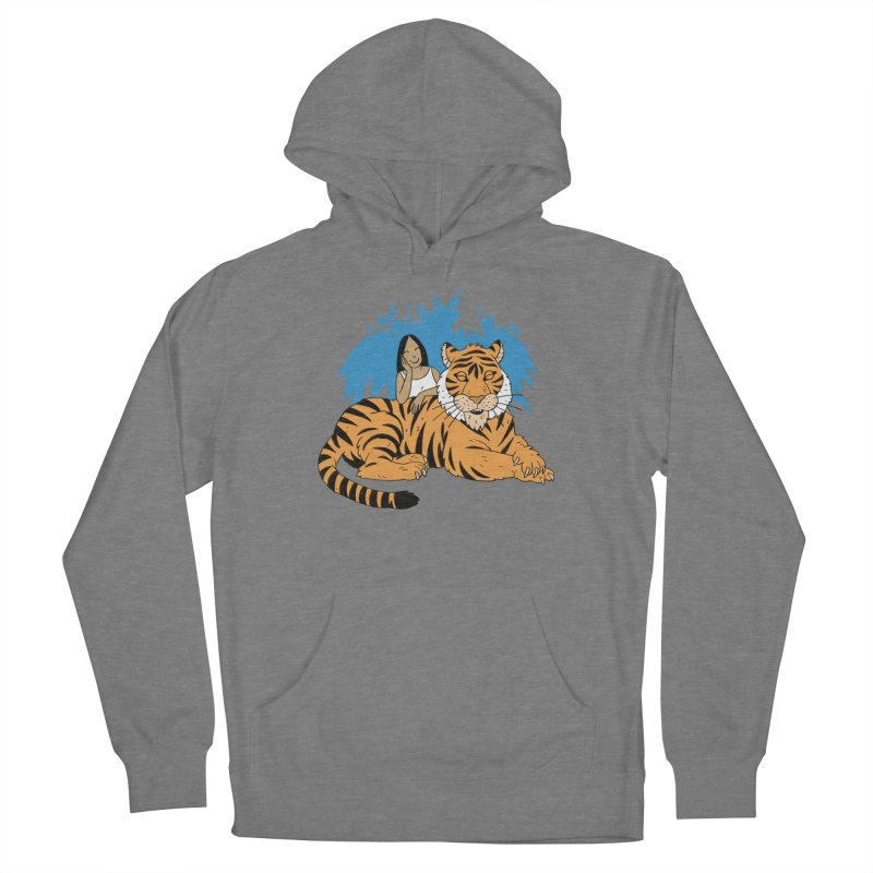Pet Tiger Women's French Terry Pullover Hoody by Freehand