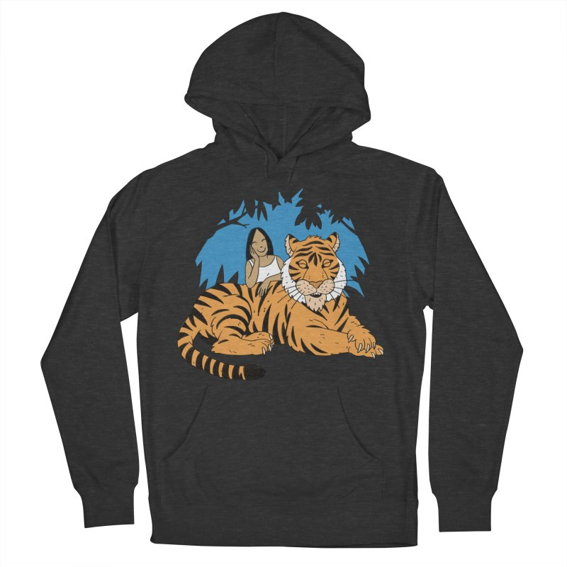 Pet Tiger Men's French Terry Pullover Hoody by Freehand