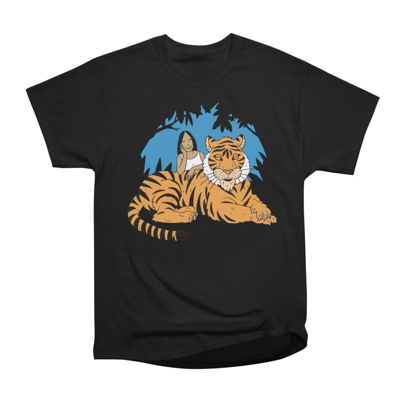 Pet Tiger Women's Heavyweight Unisex T-Shirt by Freehand