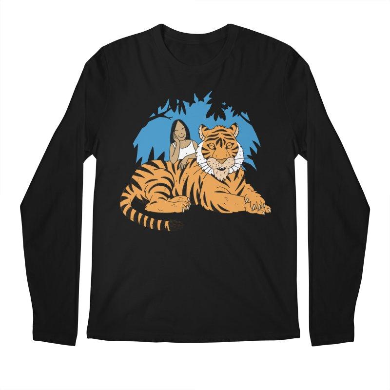Pet Tiger Men's Regular Longsleeve T-Shirt by Freehand