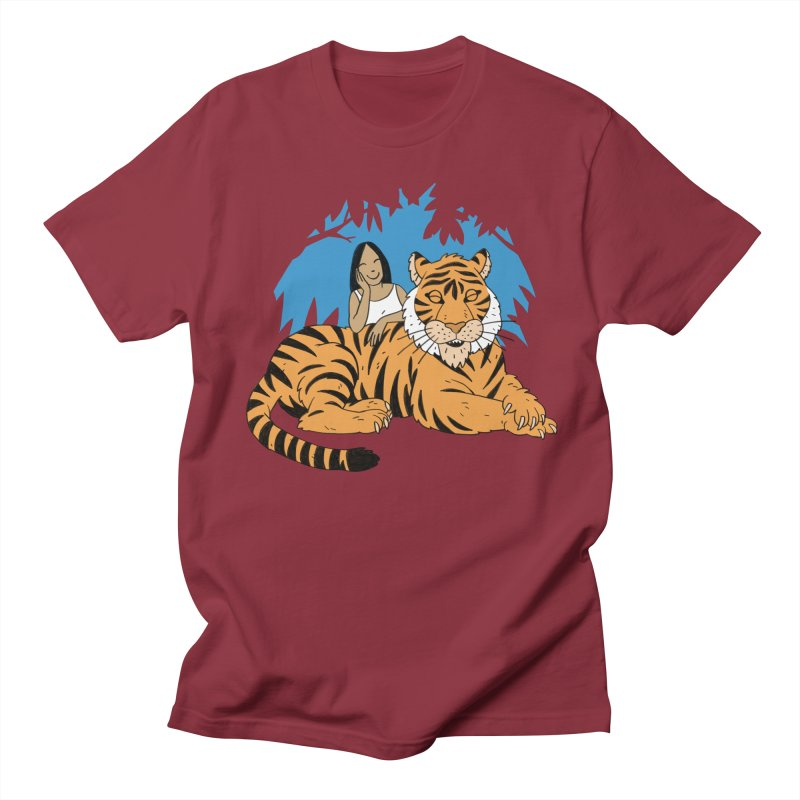 Pet Tiger Men's Regular T-Shirt by Freehand