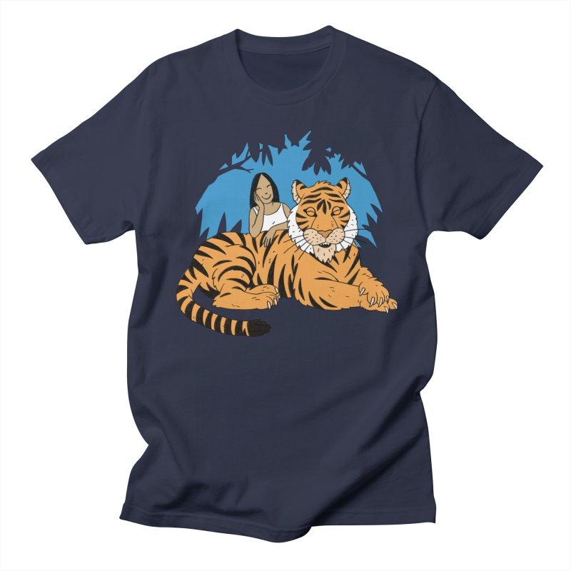 Pet Tiger Women's Regular Unisex T-Shirt by Freehand