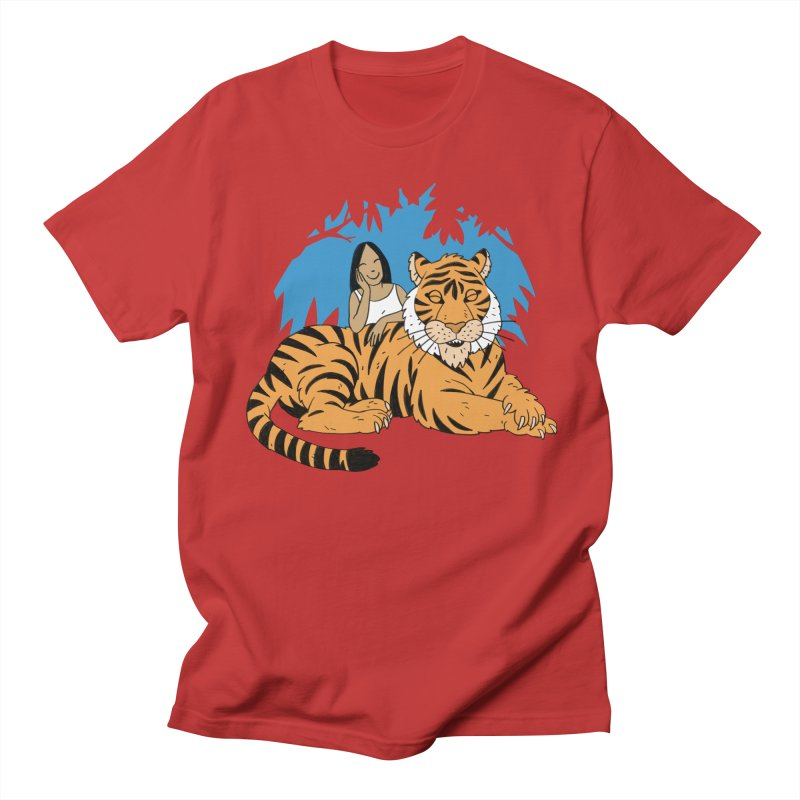 Pet Tiger Men's Regular T-Shirt by Freehand