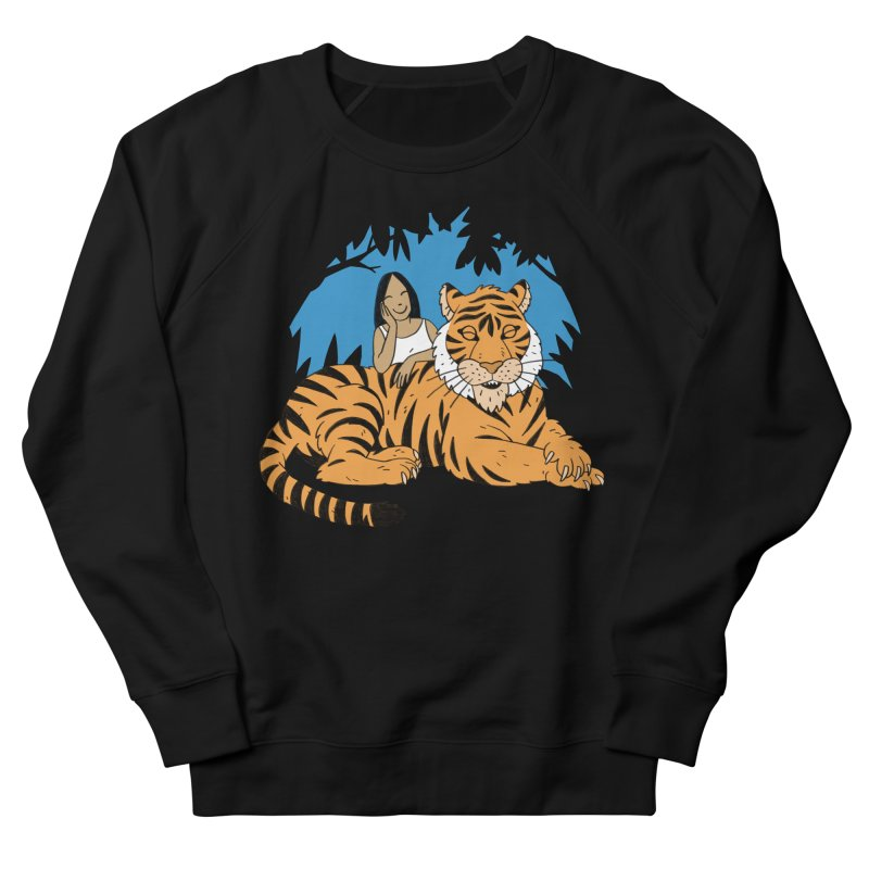 Pet Tiger Men's French Terry Sweatshirt by Freehand