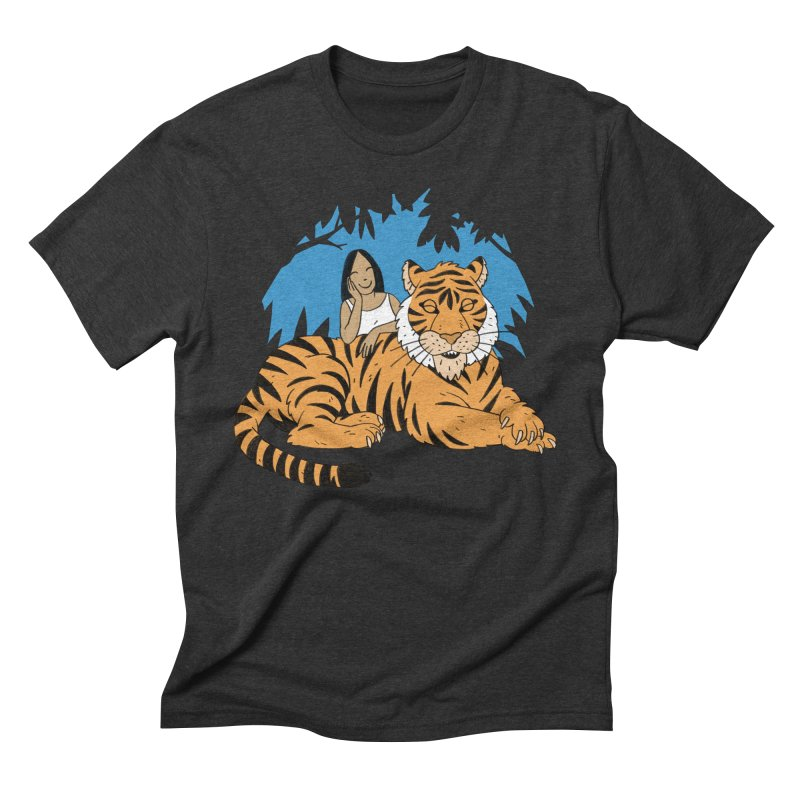 Pet Tiger Men's Triblend T-Shirt by Freehand