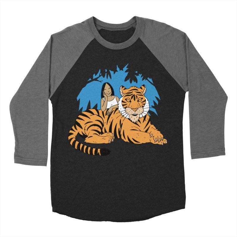 Pet Tiger Women's Baseball Triblend Longsleeve T-Shirt by Freehand
