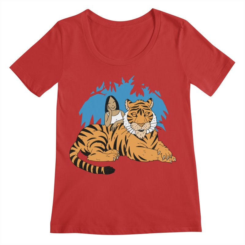 Pet Tiger Women's Regular Scoop Neck by Freehand