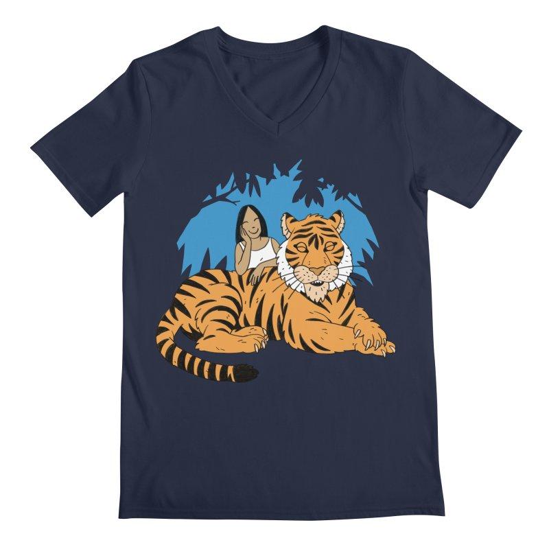 Pet Tiger Men's Regular V-Neck by Freehand