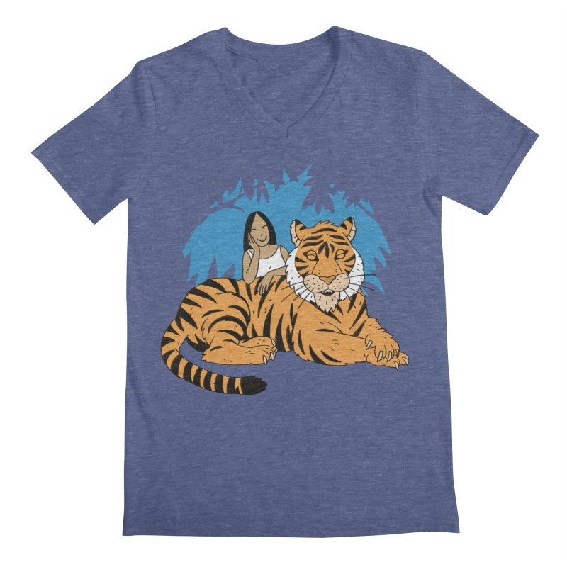 Pet Tiger Men's Regular V-Neck by Freehand