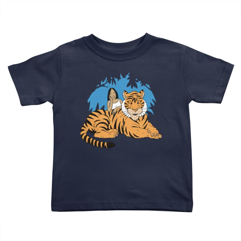 Pet Tiger Kids Toddler T-Shirt by Freehand