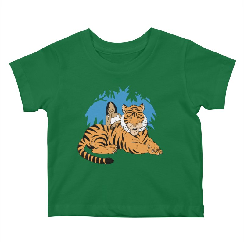 Pet Tiger Kids Baby T-Shirt by Freehand