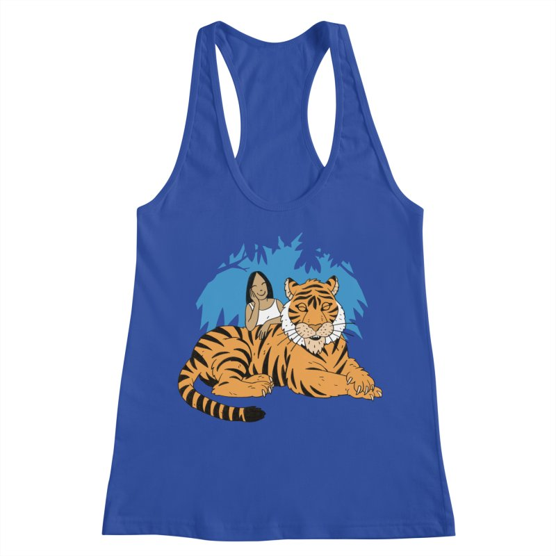 Pet Tiger Women's Racerback Tank by Freehand