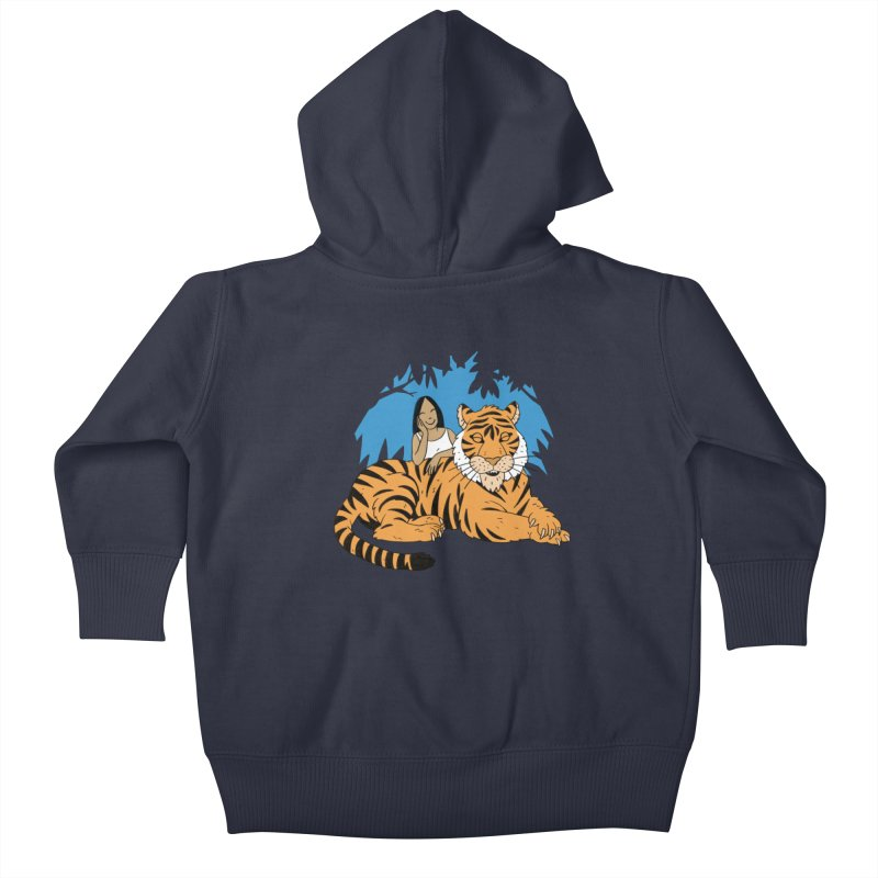 Pet Tiger Kids Baby Zip-Up Hoody by Freehand