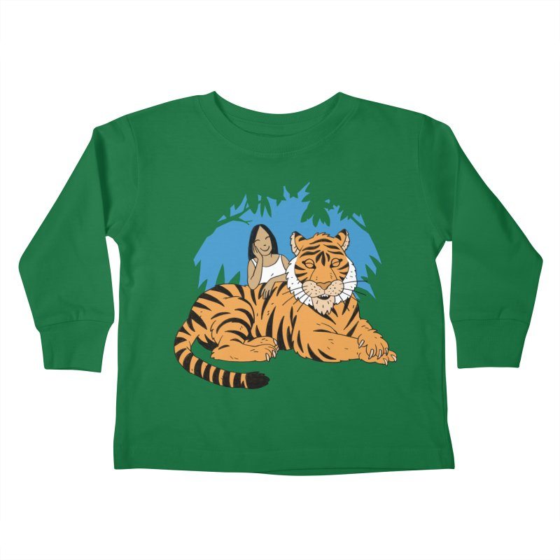 Pet Tiger Kids Toddler Longsleeve T-Shirt by Freehand