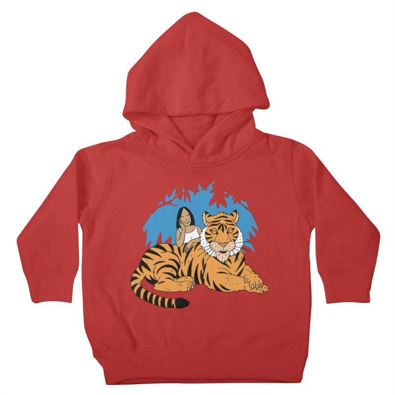 Pet Tiger Kids Toddler Pullover Hoody by Freehand