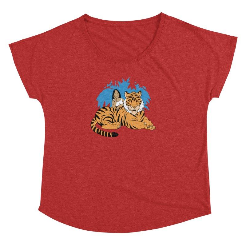 Pet Tiger Women's Dolman Scoop Neck by Freehand