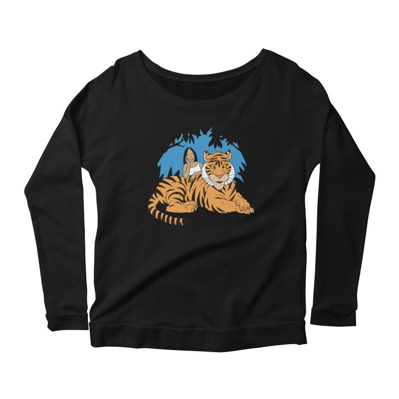 Pet Tiger Women's Scoop Neck Longsleeve T-Shirt by Freehand