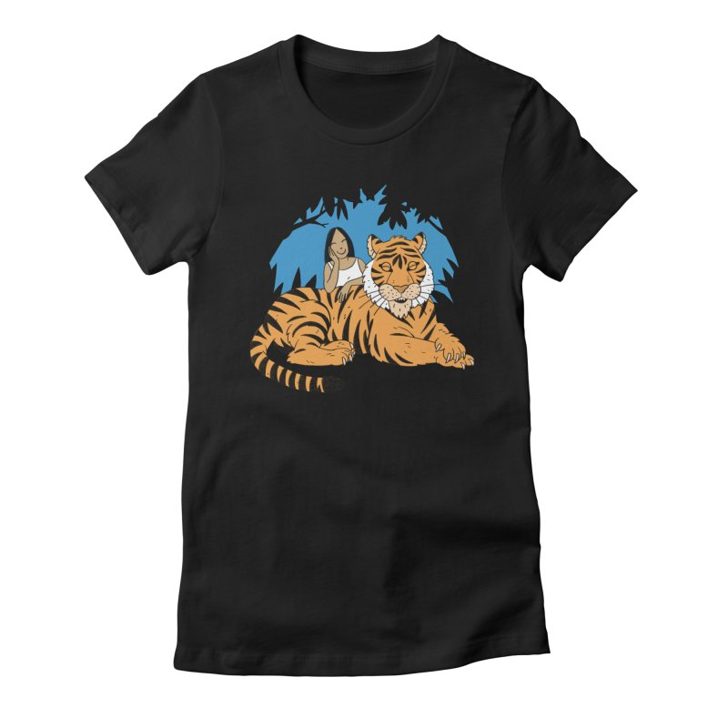Pet Tiger Women's Fitted T-Shirt by Freehand