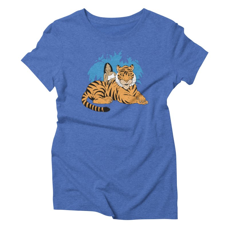 Pet Tiger Women's Triblend T-Shirt by Freehand