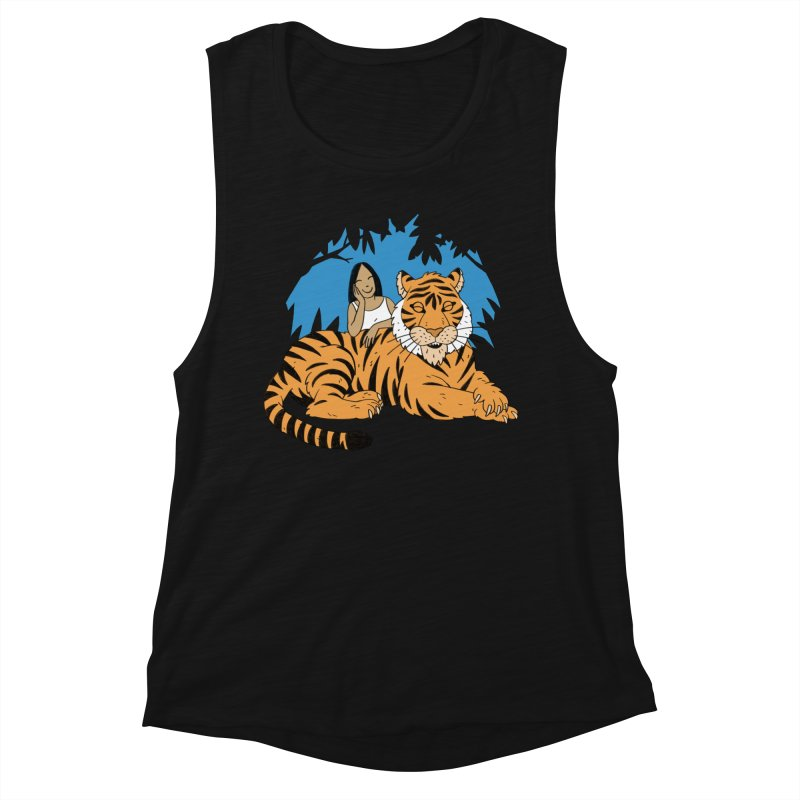 Pet Tiger Women's Muscle Tank by Freehand
