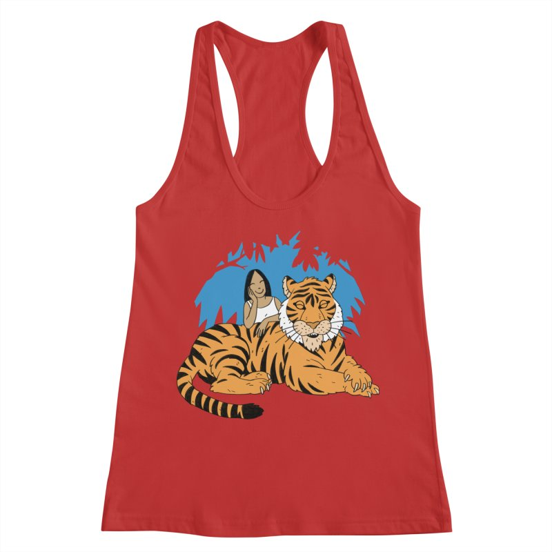 Pet Tiger Women's Racerback Tank by Freehand