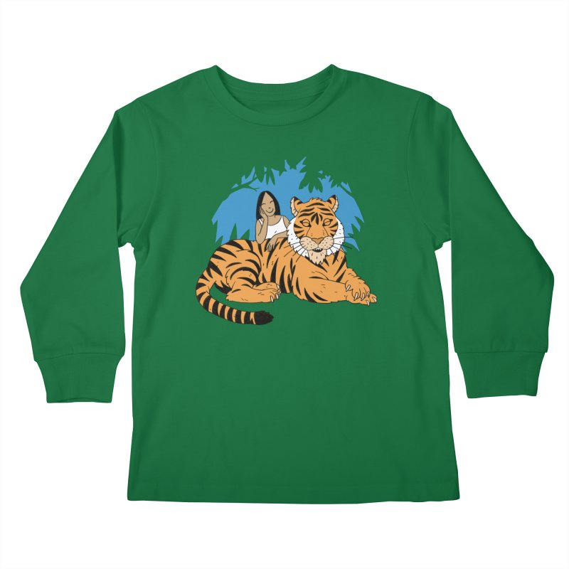 Pet Tiger Kids Longsleeve T-Shirt by Freehand