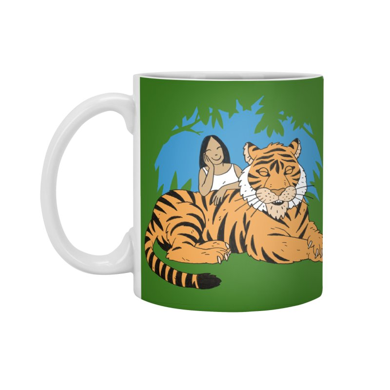 Pet Tiger Accessories Standard Mug by Freehand