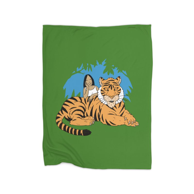 Pet Tiger Home Fleece Blanket Blanket by Freehand