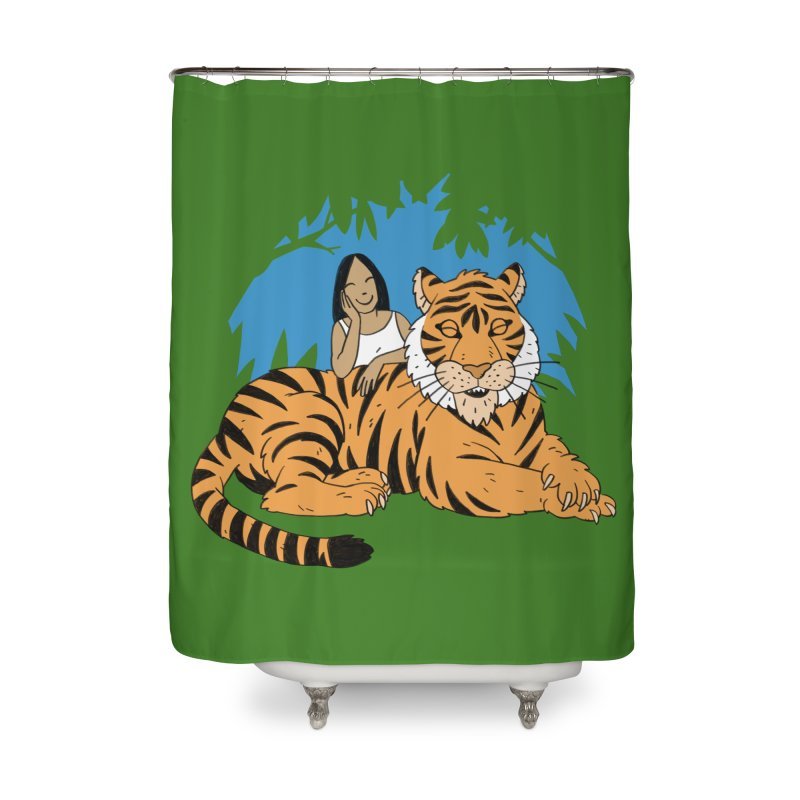 Pet Tiger Home Shower Curtain by Freehand