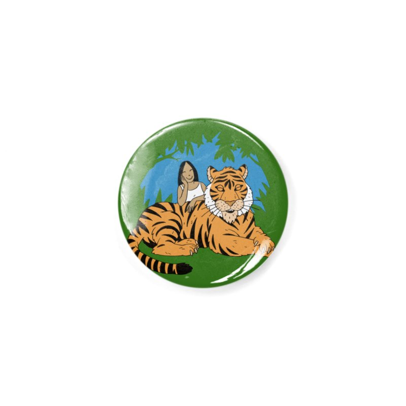 Pet Tiger Accessories Button by Freehand