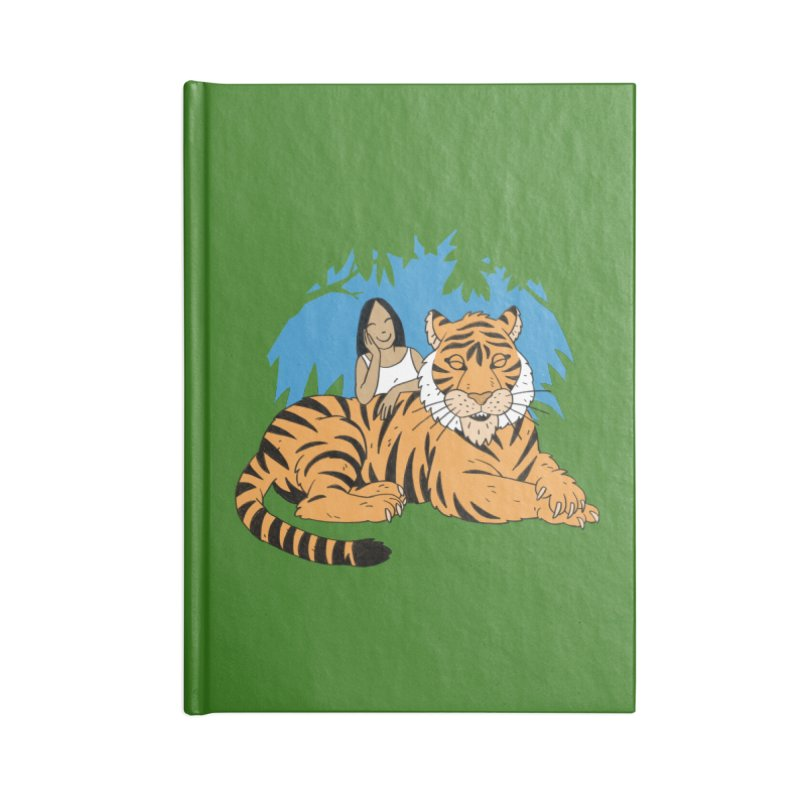 Pet Tiger Accessories Blank Journal Notebook by Freehand
