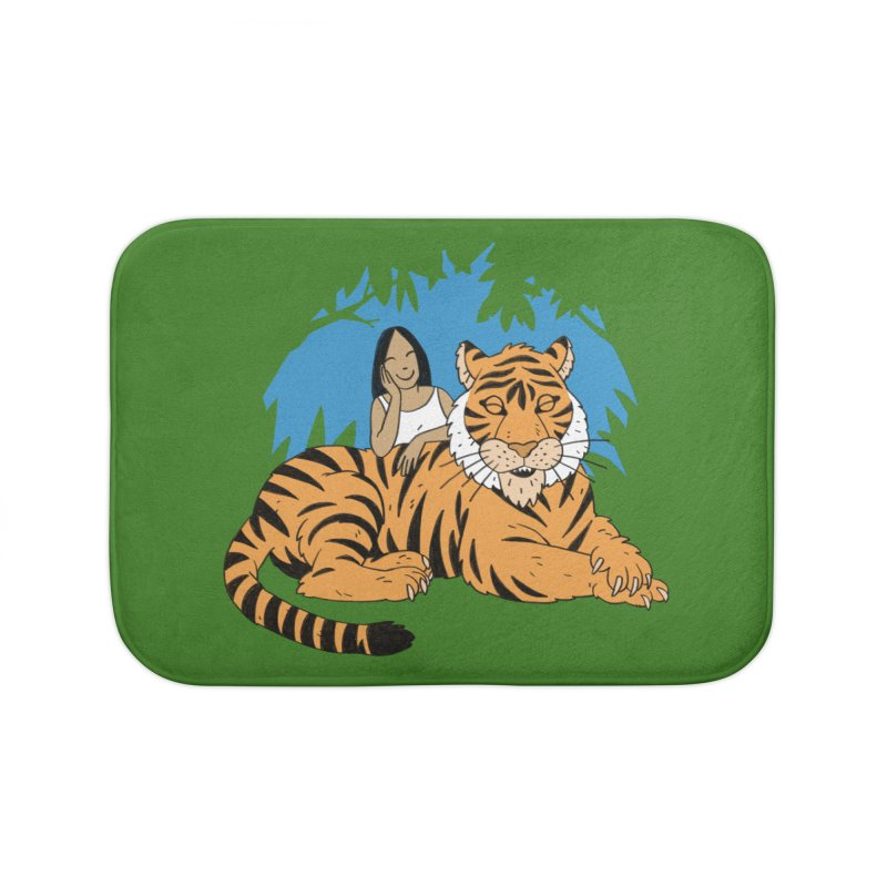 Pet Tiger Home Bath Mat by Freehand