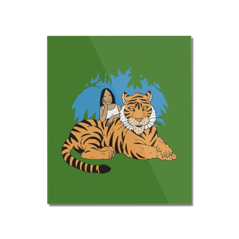 Pet Tiger Home Mounted Acrylic Print by Freehand