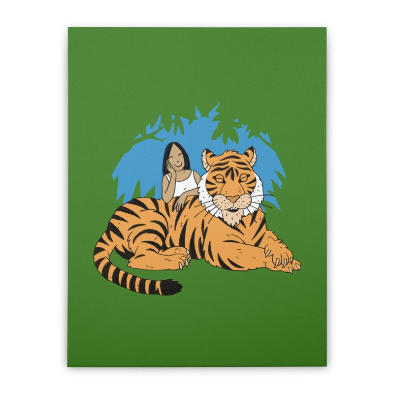 Pet Tiger Home Stretched Canvas by Freehand