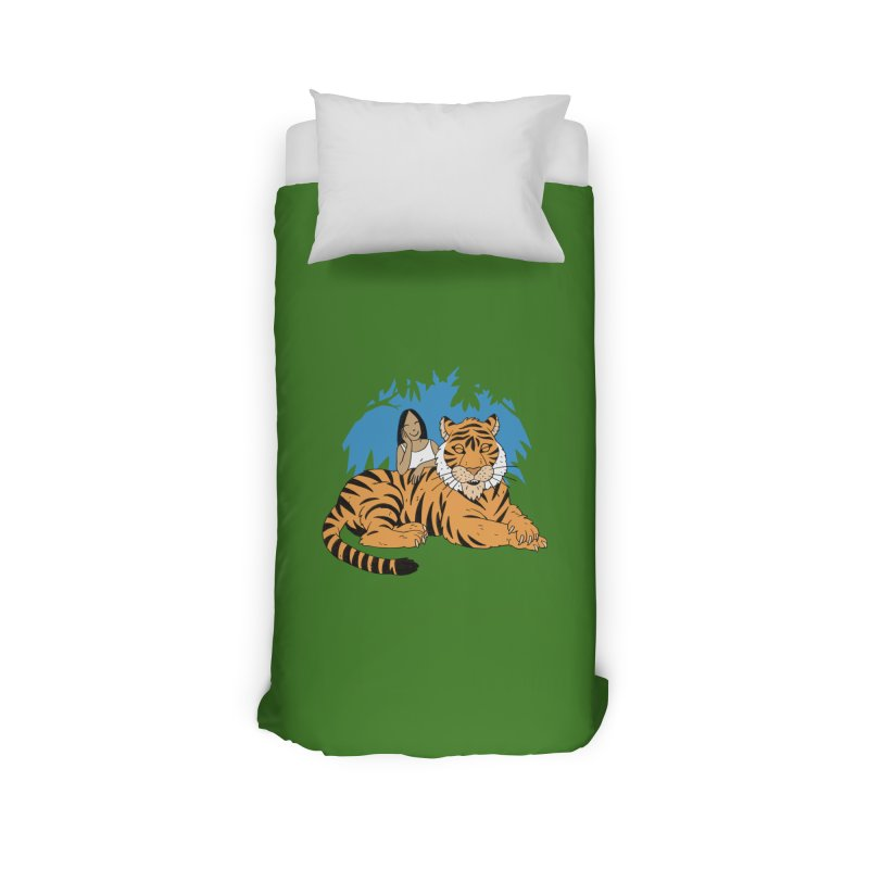 Pet Tiger Home Duvet by Freehand