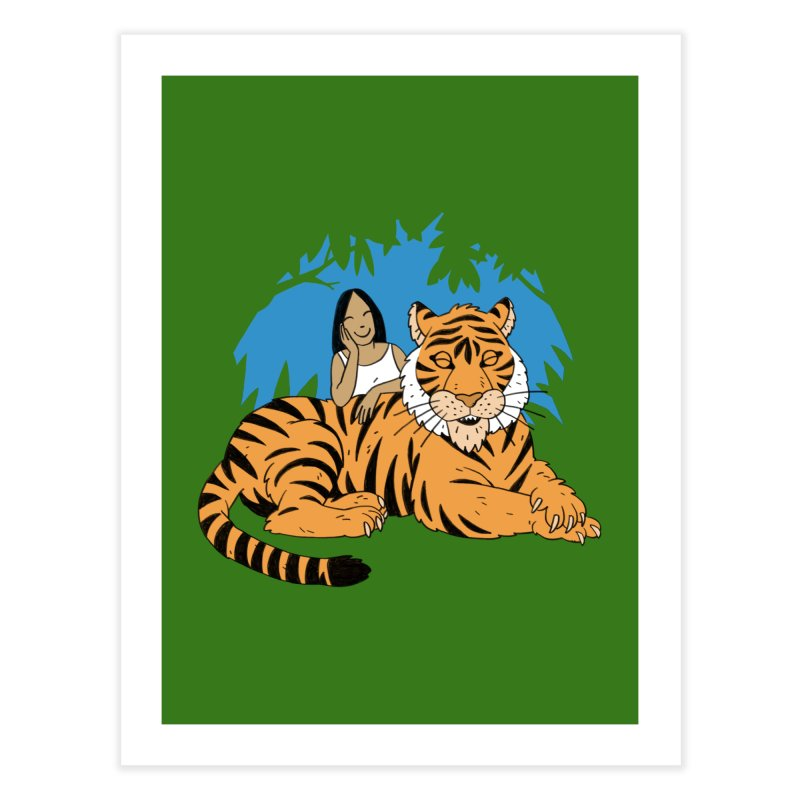 Pet Tiger Home Fine Art Print by Freehand