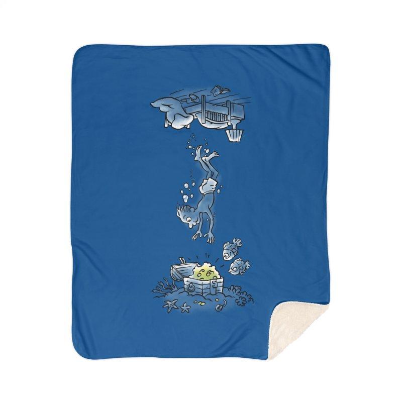 Deep Dreaming Home Sherpa Blanket Blanket by Freehand