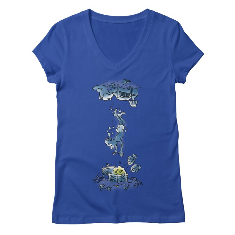 Deep Dreaming Women's Regular V-Neck by Freehand