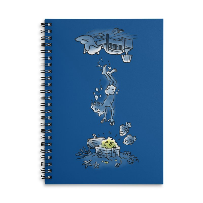 Deep Dreaming Accessories Lined Spiral Notebook by Freehand