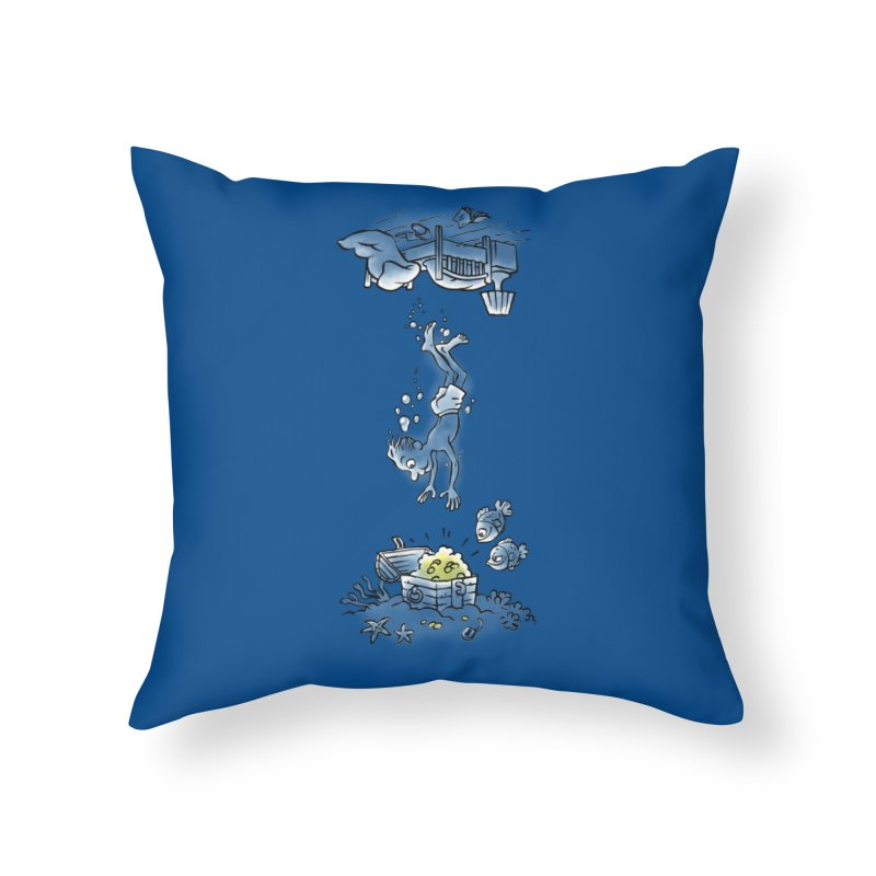 Deep Dreaming Home Throw Pillow by Freehand