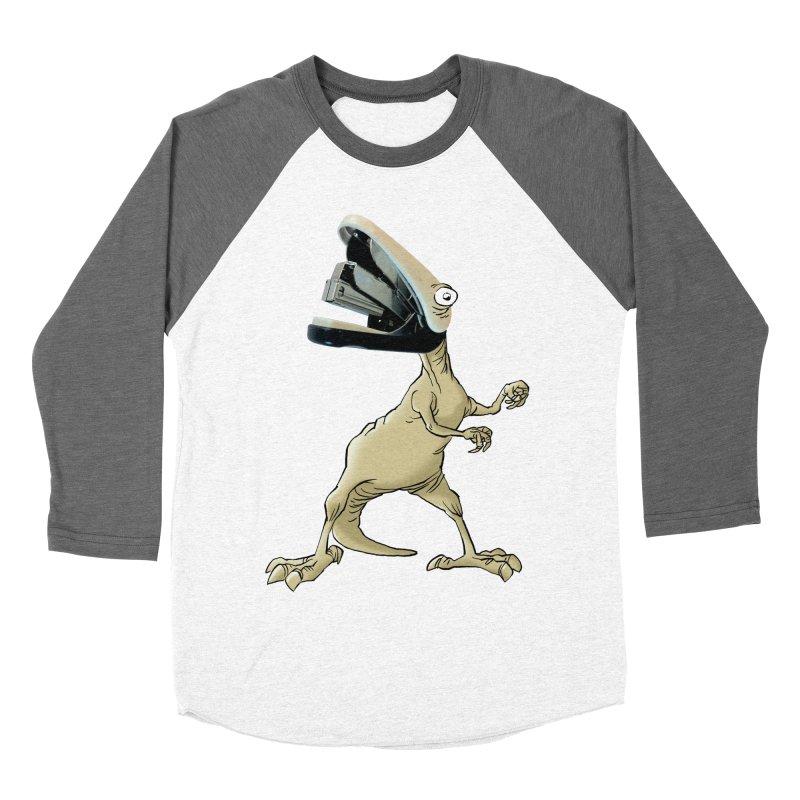 Staplosaurus Men's Baseball Triblend T-Shirt by Freehand
