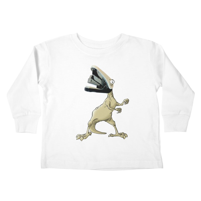 Staplosaurus Kids Toddler Longsleeve T-Shirt by Freehand