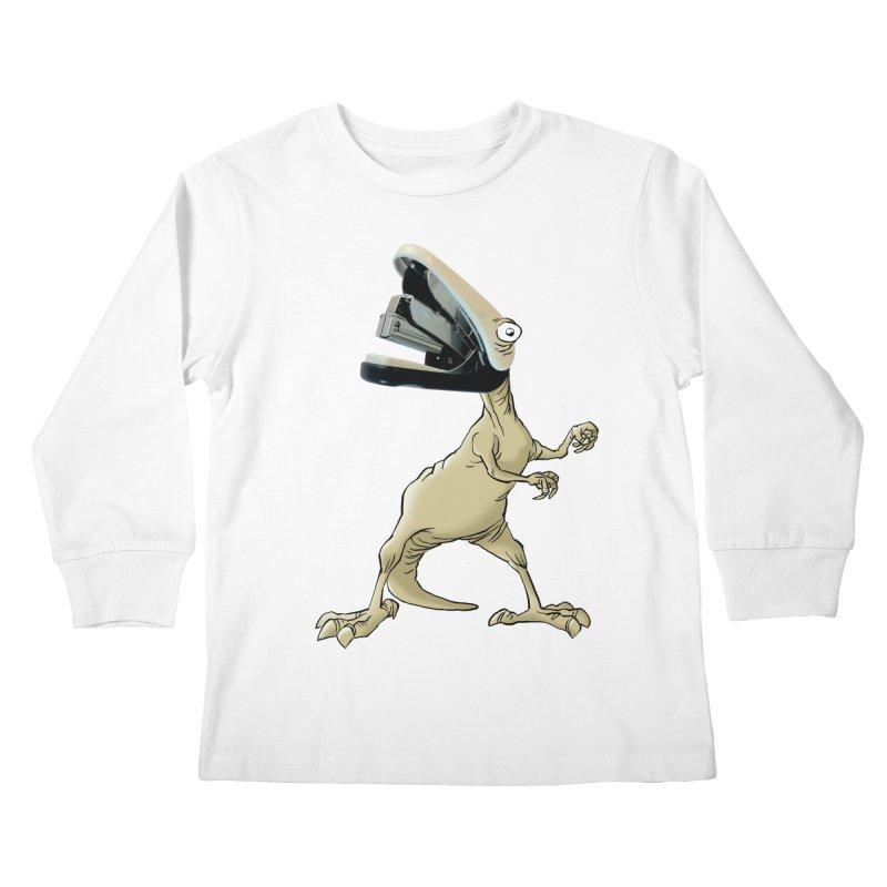 Staplosaurus Kids Longsleeve T-Shirt by Freehand