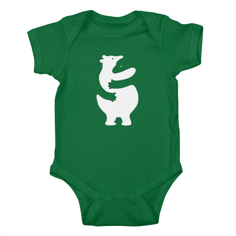 Huggers, white edition Kids Baby Bodysuit by Freehand