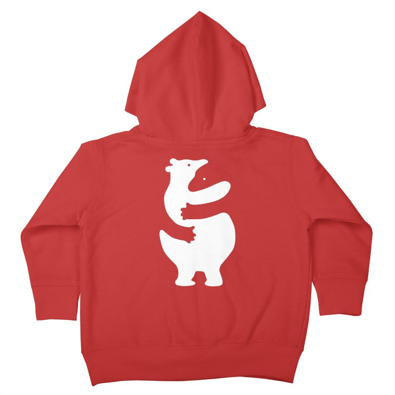 Huggers, white edition Kids Toddler Zip-Up Hoody by Freehand