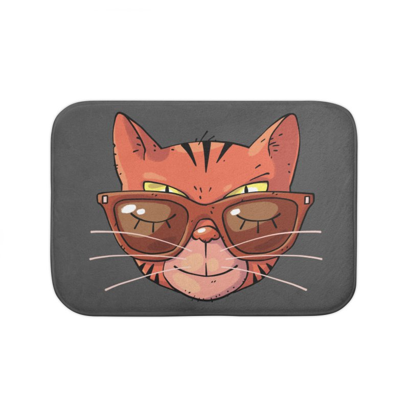Asleep And Alert Home Bath Mat by Freehand