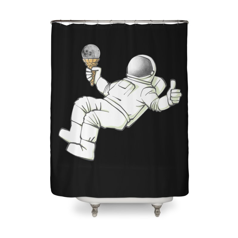 Lunar Trickshot Home Shower Curtain by Freehand